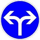 VZ-214-30 Vorgeschriebene Fahrtrichtung rechts und links